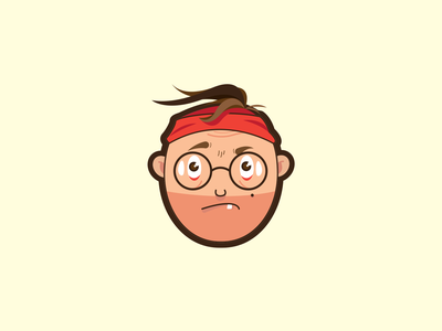 Funny Miserable sadness caricature character face