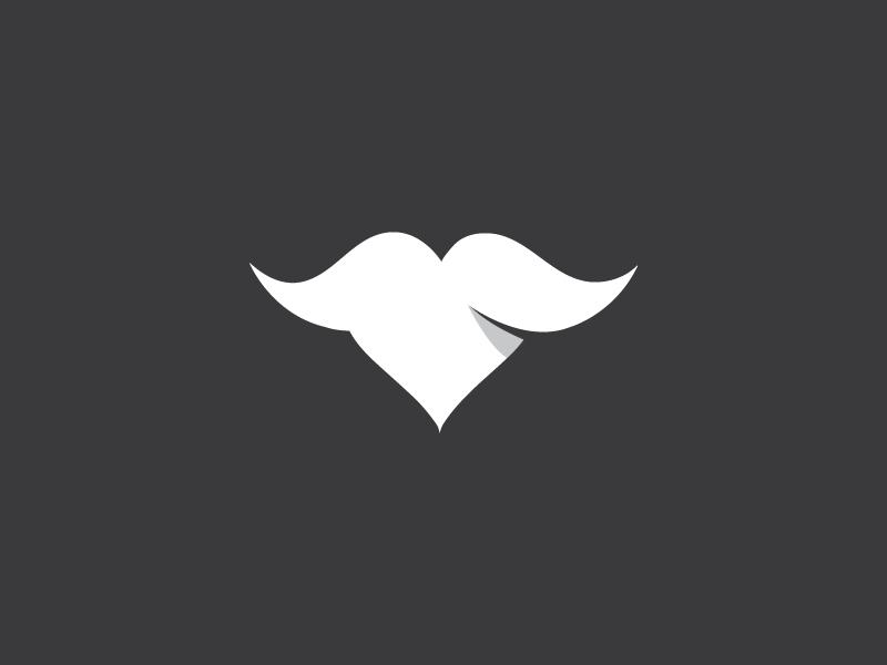 Mustache heart funniest fun funny logos logo icon icons mustache