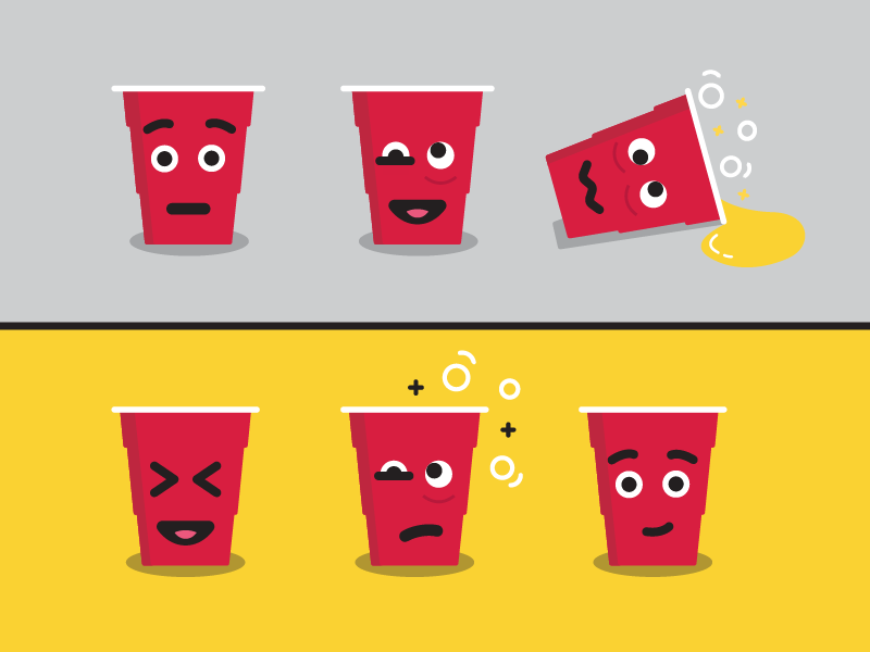 Solo Cup Emojis By Jake Likewise Dribbble Dribbble