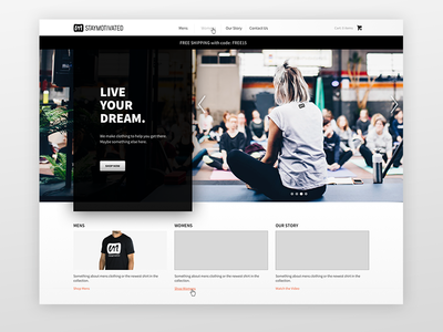 Stay Motivated Landing Page