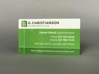 G. Christianson Construction — Business Card