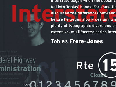 Interstate Type Specimen font bureau sans tobias frere-jones interstate lettering layout specimen typography