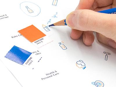 Profitero Icon Library Process ecommerce data branding illustration icons