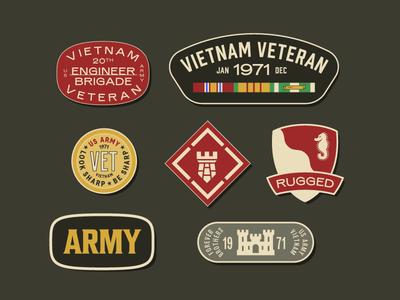 Vietnam Veteran Patches 3