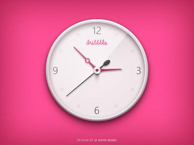 Clock - Dribbble Version