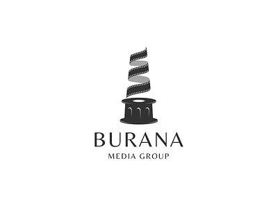 Burana Media Group burana logo production cinema logodesign logotype media logo tower burana