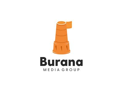 Burana media group 2concept branding media burana vector brand character logo logotype corporate mark identity illustration design