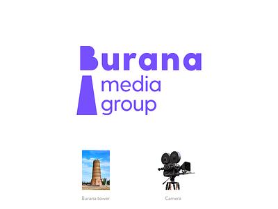 Burana media group cinema tower action camera group media burana corporatestyle game vector character logotype corporate mark identity illustration design