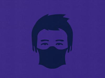 Covid-19 avatar brand vector logo typography character logotype corporate mark identity illustration design