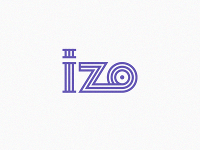 """izo"" virtual gallery design branding picture artist museum gallery logo virtual izo"
