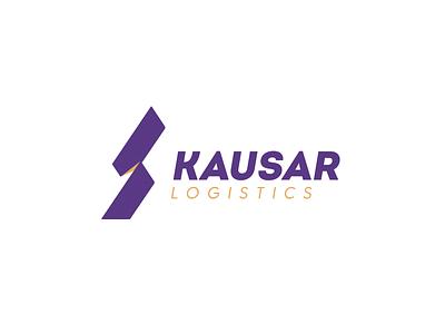 Kausar logistic trucks delivery transport kausar logotype brand mark logo design logo logistics
