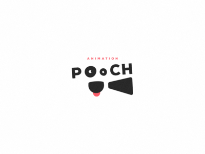 Pooch animation production logotype znak sign logodesign animal dog kino film movie cinema brand logo animation pooch