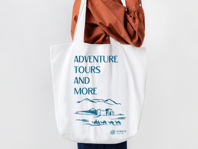 "illustrations and copywriting for ""Kyrgyz Tourism"" branding identitydesign kyrgyzstan kygyz-tourism illustration bag design bag"