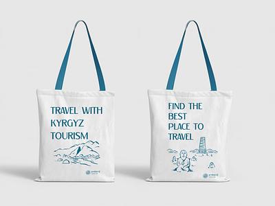 "illustrations and copywriting for ""Kyrgyz Tourism"" character typography corporatestyle brand logotype corporate identity logo illustration design"