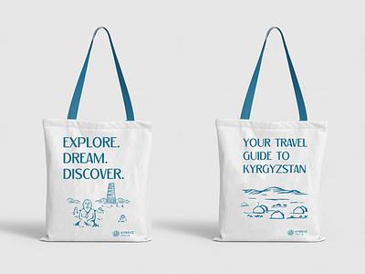 "illustrations and copywriting for ""Kyrgyz Tourism"" branding logotype brand corporate typography mark identity illustration logo design"
