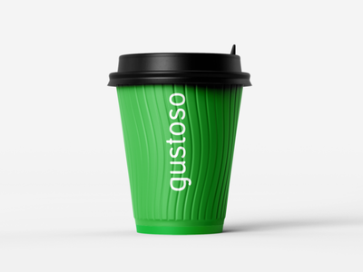 Gustoso Coffee logo brand typography coffee corporate identity mark logo design