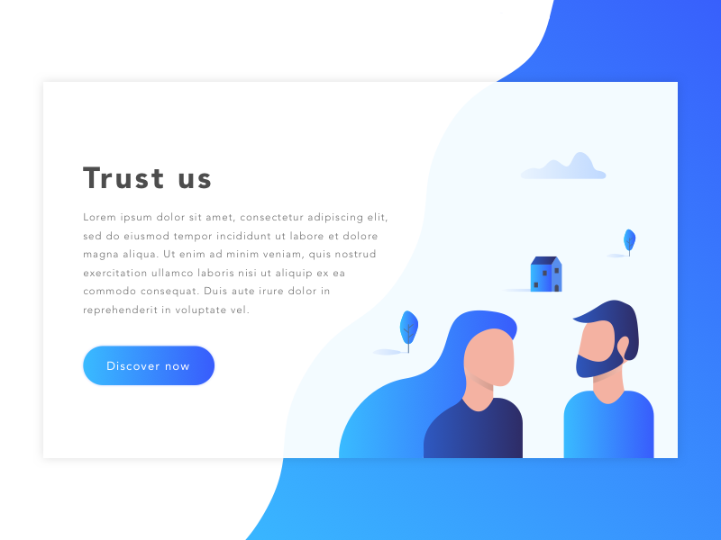 Insurance illustration concept  gradient blue design ui site web bow dialog illustration insurance