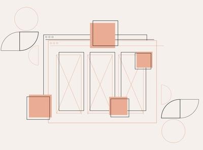Mockups portfolio site design thinking ui mockup scandinavian vector illustration