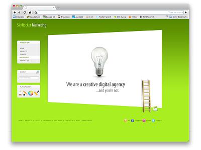 SkyRocket Marketing skyrocket design concept uiux