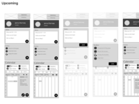 Red Arena Wireframes