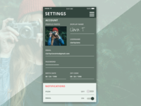 dailyui | settings