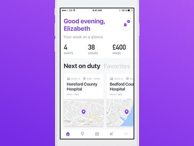 An app for nurses application hospital iphone ios app ux ui