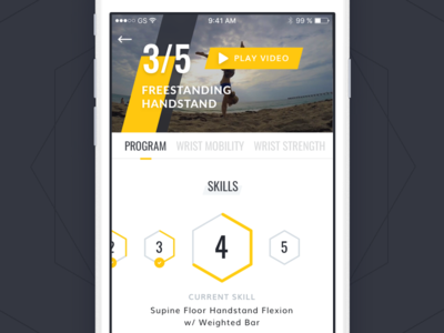 Fitness coaching product is bubble experience interface app iphone idea interaction ux ui