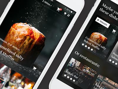 Food ordering app ordering food iphone app interface concept ux ui