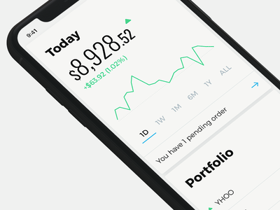 Stock trading app iphonex x experience interface app iphone currency stock ux ui