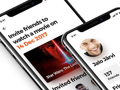 A movie picker app interaction user interface 10 x iphone cinema ux ui movie