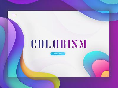 Colorism fun color debut ui ux design web