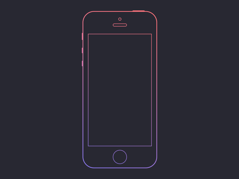 Wireframe wireframe ios iphone gradient apple