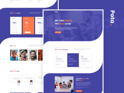 Pota - Digital Agency sketch Template
