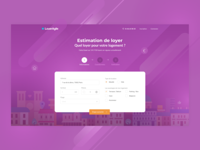 Top of Landing page