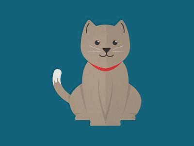 Mr. Kitty vector flat icon illustration meow cat kitty