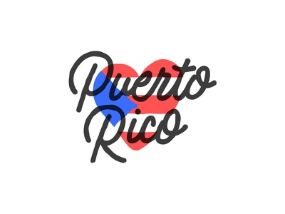 Puerto Rico <3 lettering illustration recovery heart love flag puerto rico