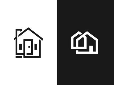 House Logo Marks geometry marks logo mono minimal home house