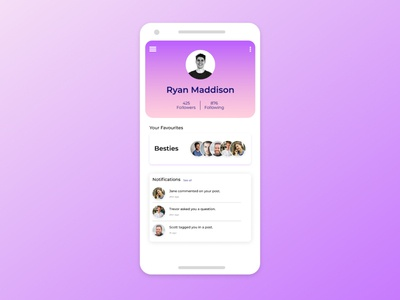 Daily UI #06 : Profile Page