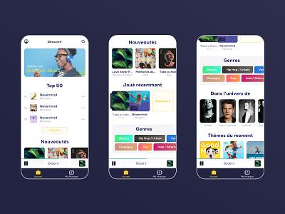 La Poste Music - Music streaming app music app streaming stream music application app design app ui