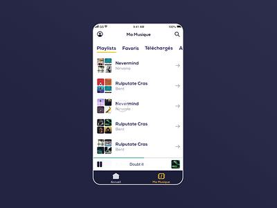 Library - Music streaming app ui library music app music application app design app