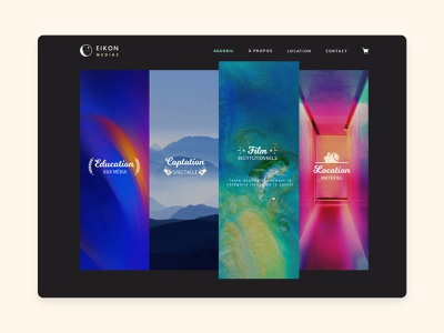 Homepage for a video compagny video homepage webdesign web design website ui