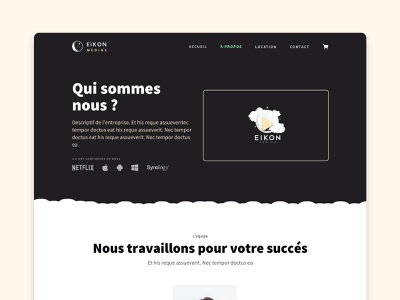 About page for a video compagny embed cloudy about page about us about web site webdesign web design website ui