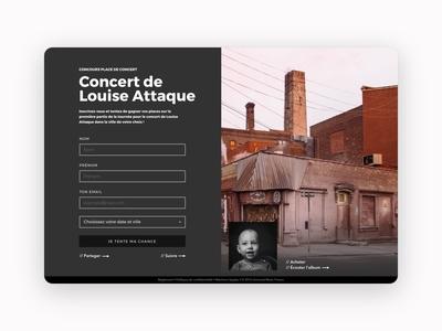 Website of draw competing game français site website ui template marketing game competing