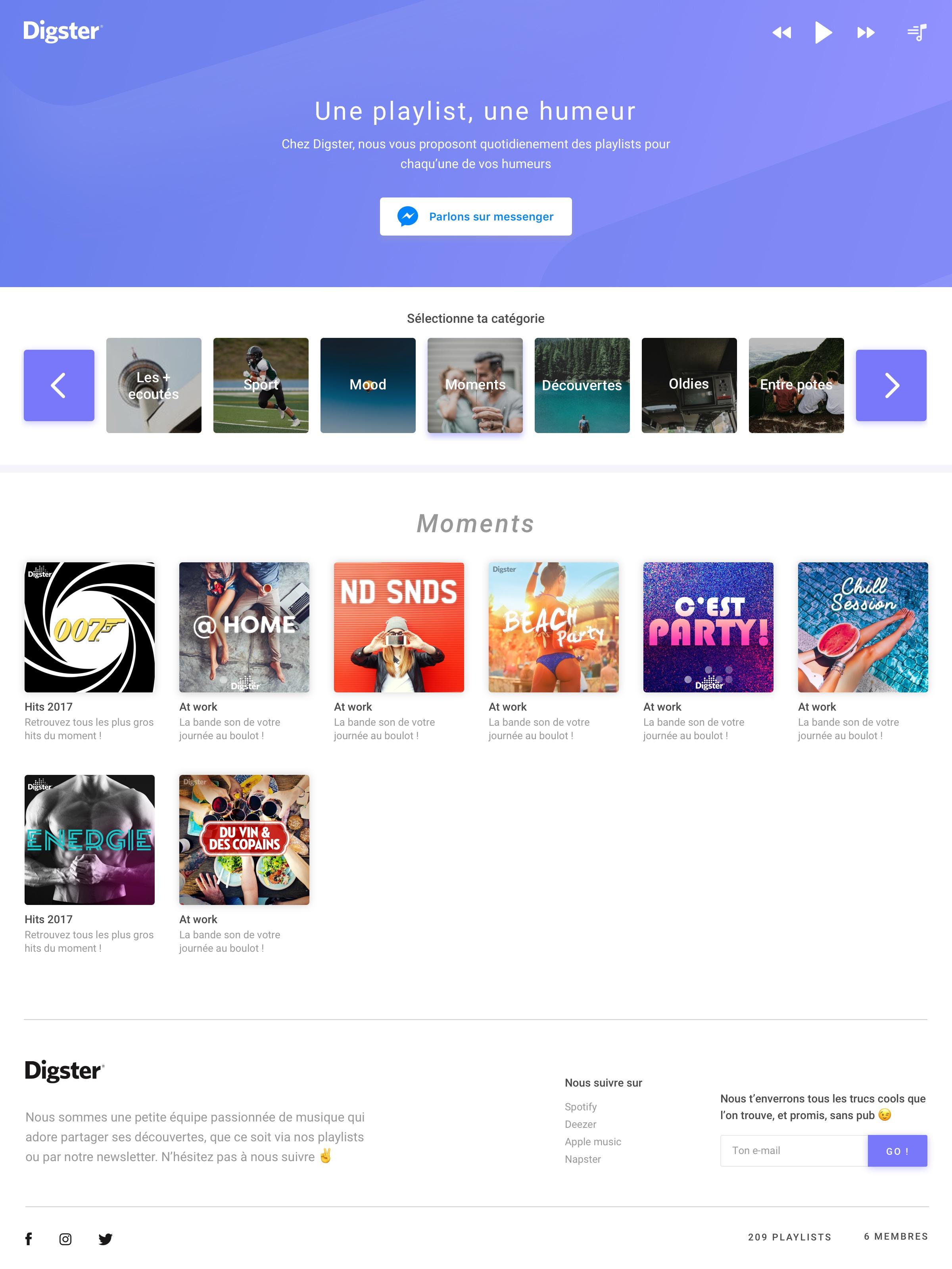 Diggy page playlist v2.7