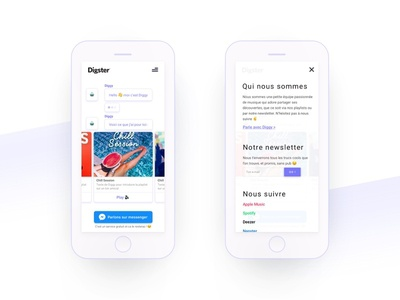 Digster - Mobile version