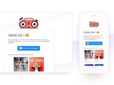✉️ Mail Template Diggy ✉️ mail newsletter email template bot music playlist purple