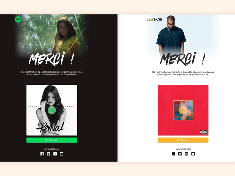 Nl Email Template - Artistes web design webdesign newsletter email design emailing email template template music