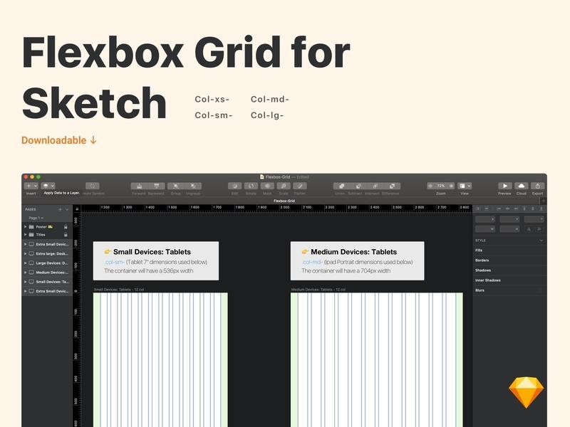 Flexbox Grid [Sketch file] free download sketch ressources ressource grid flexbox grid flexbox