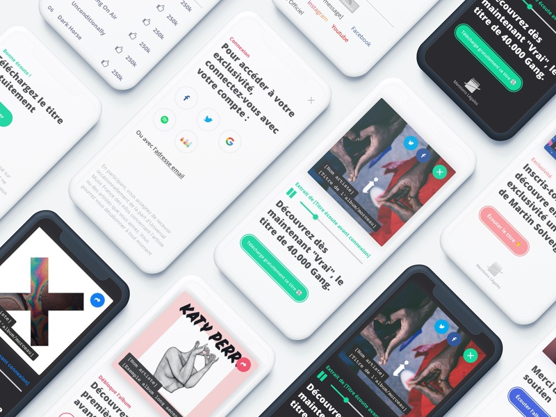 Redesign operation CRM - Mobile UI ui web design webdesign responsive mobile website music