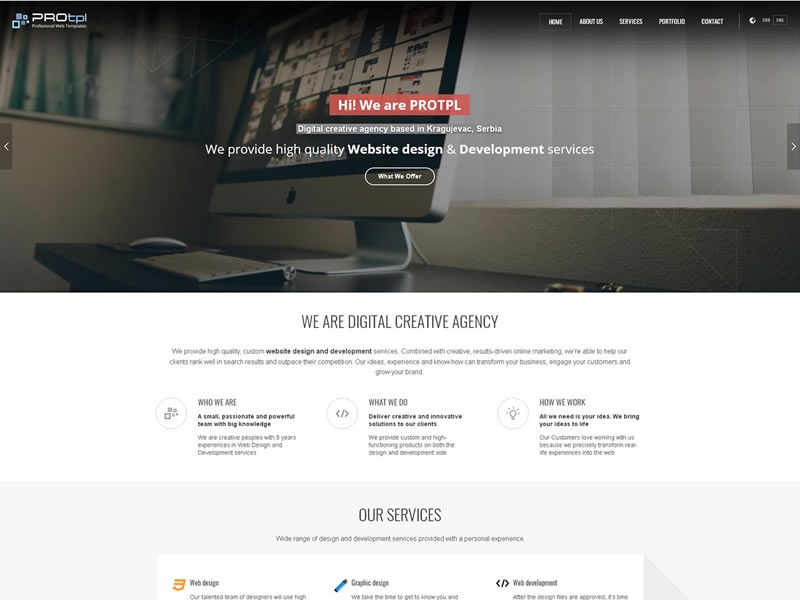 DIgital creative agency creative wordpress theme digital agency web design